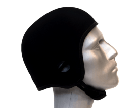 black soft helmet