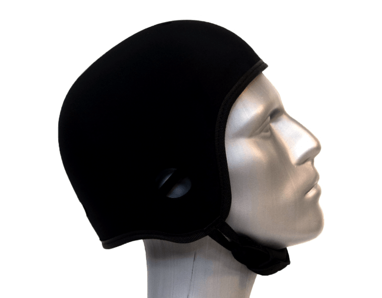 black soft helmet